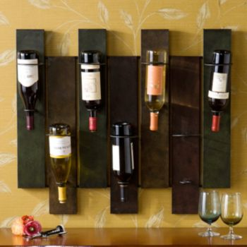 Wildrose 7-Bottle Wall-Mount Wine Rack