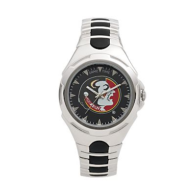 Game Time Victory Series Florida State Seminoles Silver-Tone Watch - Men