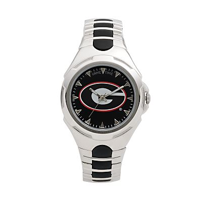 Game Time Victory Series Georgia Bulldogs Silver-Tone Watch - Men