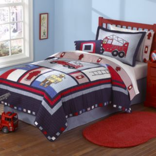 PEM America Fireman Quilt Set - Full/Queen