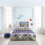 Dream Factory Trucks Tractors & Cars Bed Set - Twin