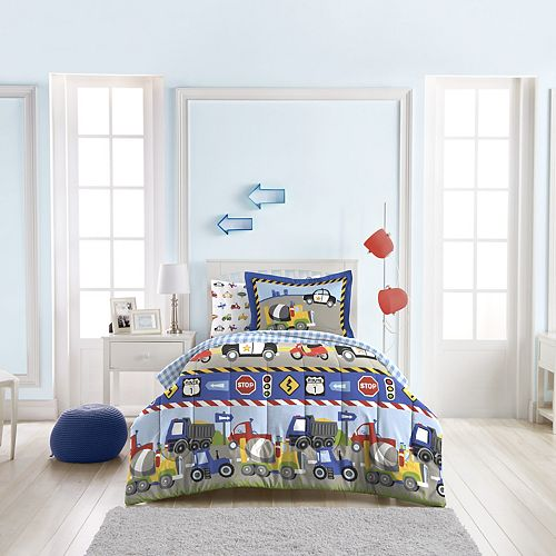 Dream Factory Trucks Tractors & Cars 5-piece Twin Bed Set