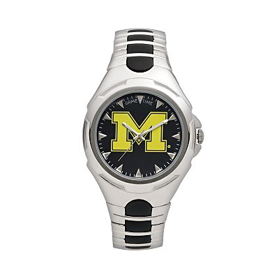 Game Time Victory Series Michigan Wolverines Silver-Tone Watch - Men