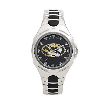 Game Time Victory Series Missouri Tigers Silver-Tone Watch - Men