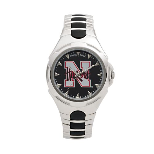 Game Time Victory Series Nebraska Cornhuskers Silver-Tone Watch - Men