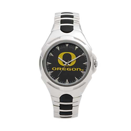 Game Time Victory Series Oregon Ducks Silver-Tone Watch - Men