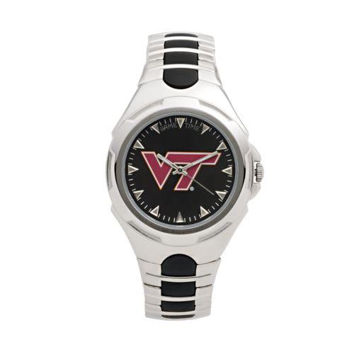 Game Time Victory Series Virginia Tech Hokies Silver-Tone Watch - Men