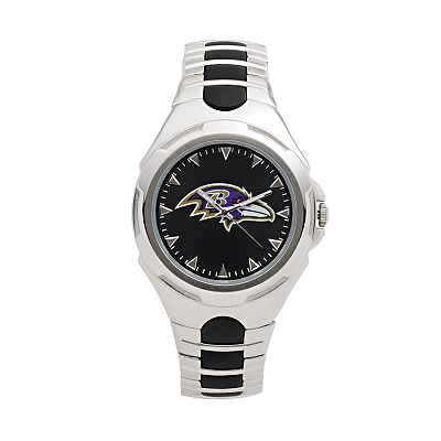 Game Time Victory Series Baltimore Ravens Silver-Tone Watch - Men