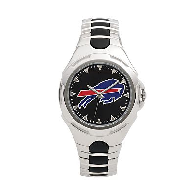 Game Time Victory Series Buffalo Bills Silver-Tone Watch - Men