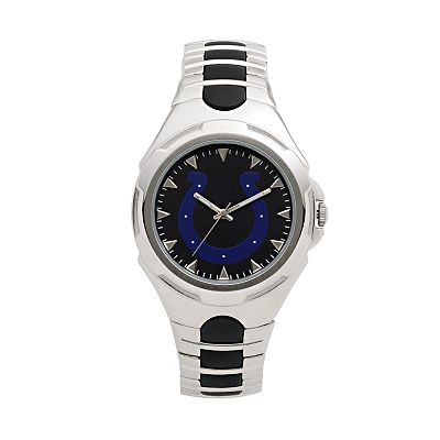 Game Time Victory Series Indianapolis Colts Silver-Tone Watch - Men