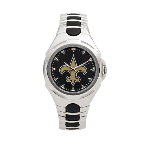 Game Time Victory Series New Orleans Saints Silver Tone Watch - Men