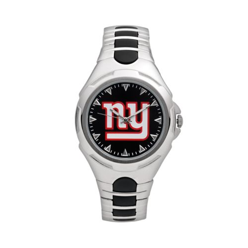 Game Time Victory Series New York Giants Silver-Tone Watch - Men