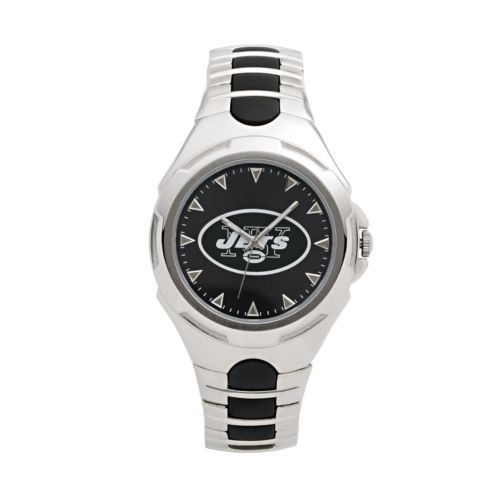 Game Time Victory Series New York Jets Silver-Tone Watch - Men
