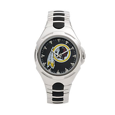 Game Time Victory Series Washington Redskins Silver-Tone Watch - Men