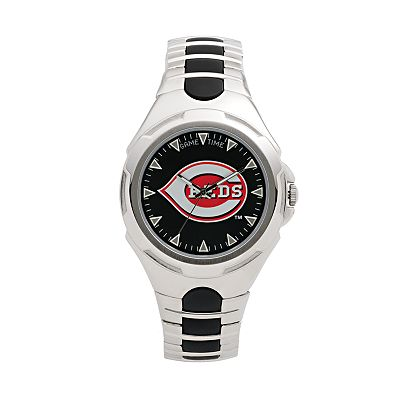 Game Time Victory Series Cincinnati Reds Silver-Tone Watch - Men
