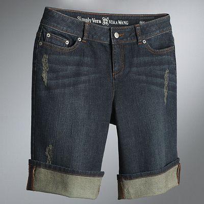 Simply Vera Vera Wang Convertible Denim Boyfriend Shorts