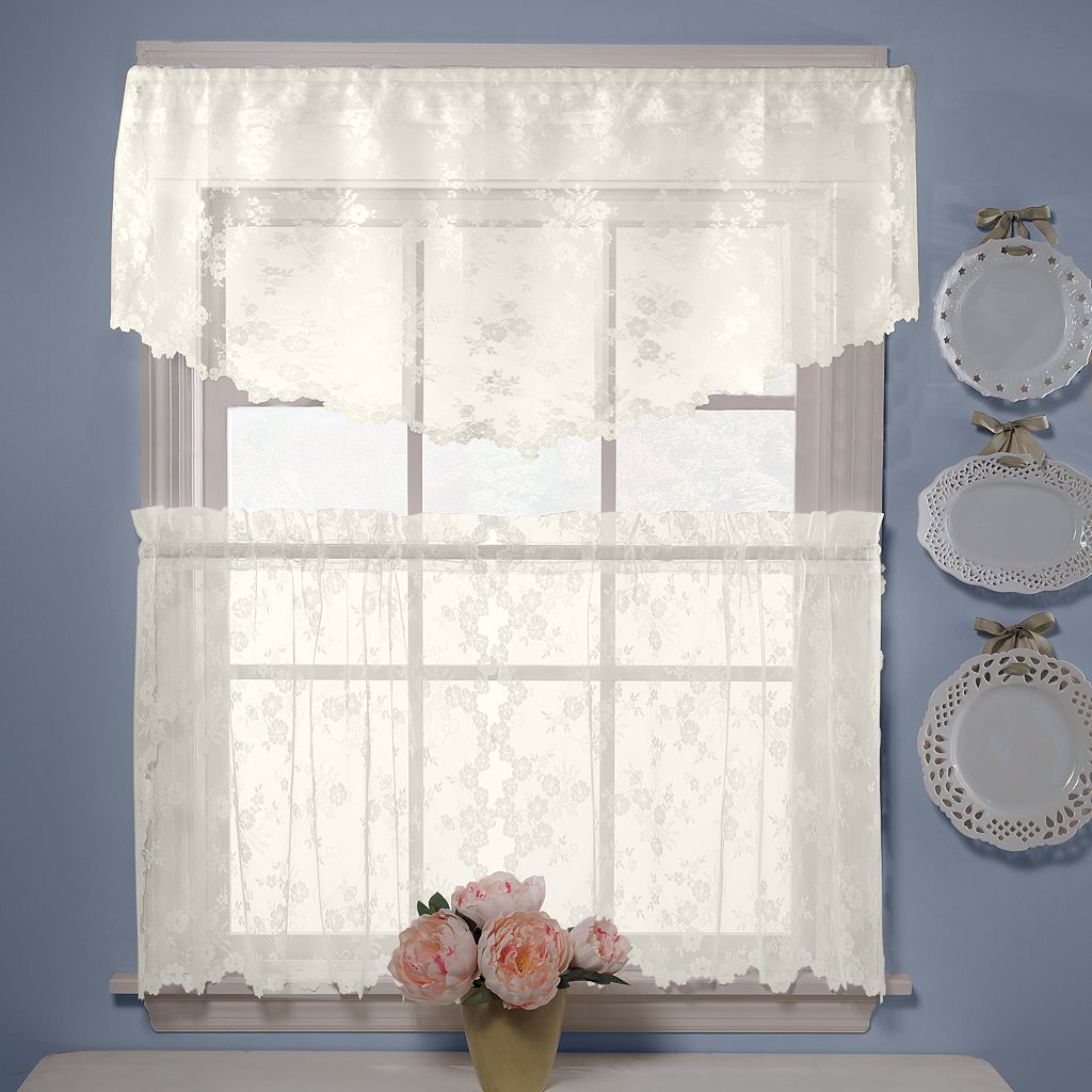 Petite Fleur Ascot Window Valance - 56'' x 20''