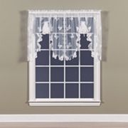 Butterfly Lace Swag Window Valance - 56'' x 38''