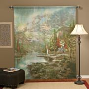 Thomas Kinkade Mountain Majesty Window Panels - 72'' x 84''