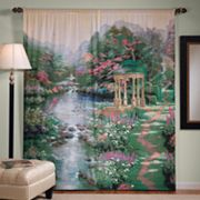 Thomas Kinkade Garden of Prayer Window Panels - 72'' x 84''
