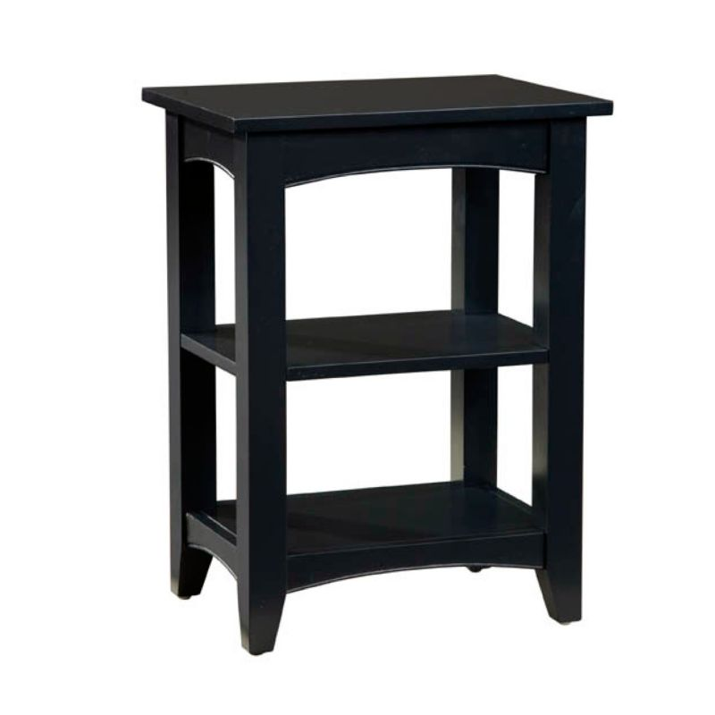 Alaterre 2-Shelf Shaker Cottage End Table, Black