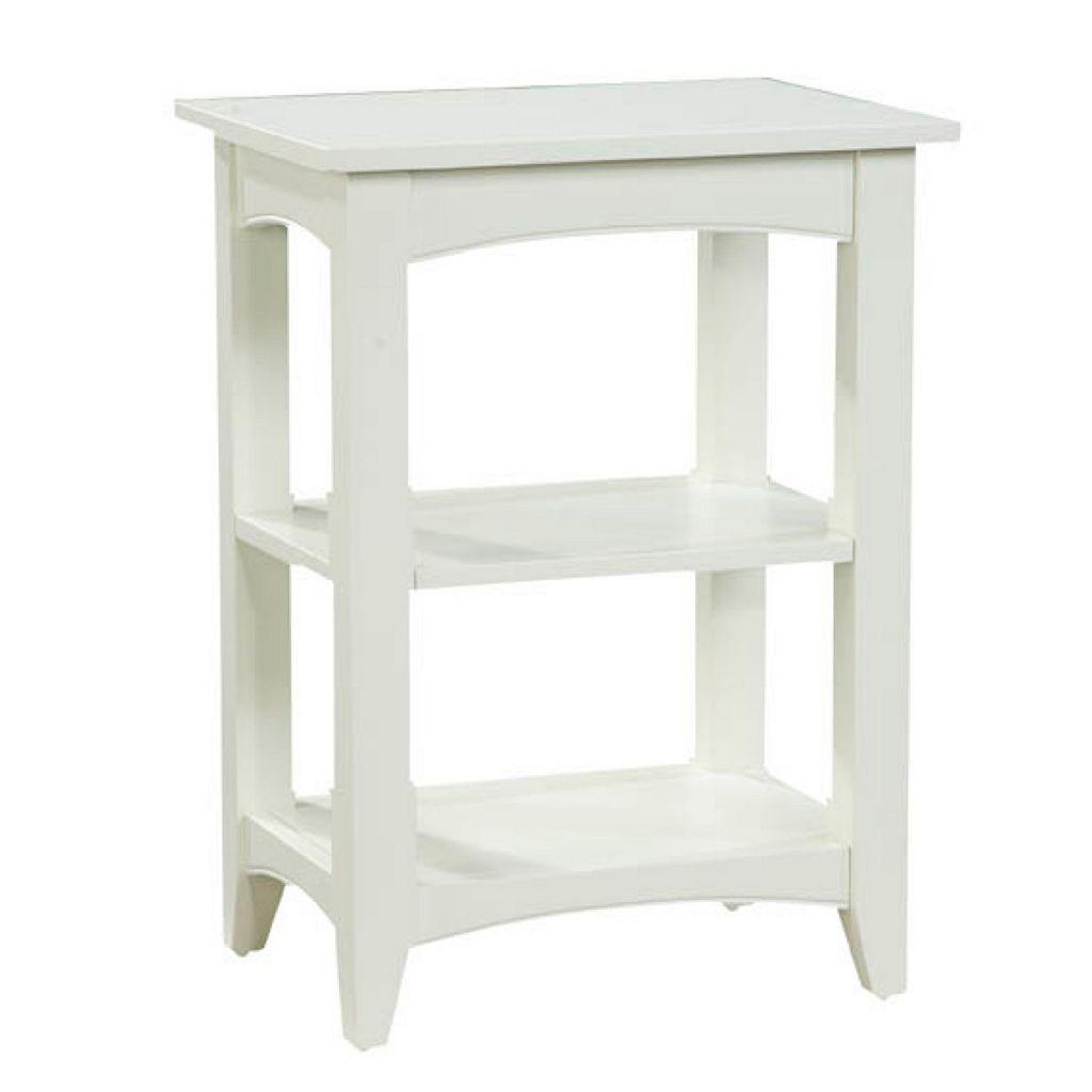 Alaterre 2-Shelf Shaker Cottage End Table