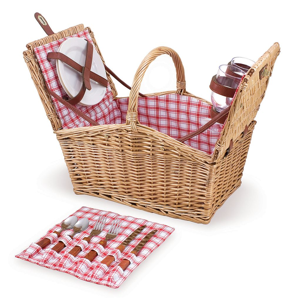 Picnic Time Piccadilly Double Lid Picnic Basket