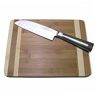 Oneida 2 pc Cutting Board & Knife Set