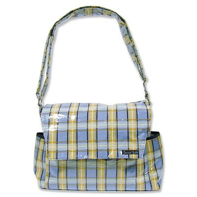 Trend Lab Rock Star Plaid Messenger Diaper Bag