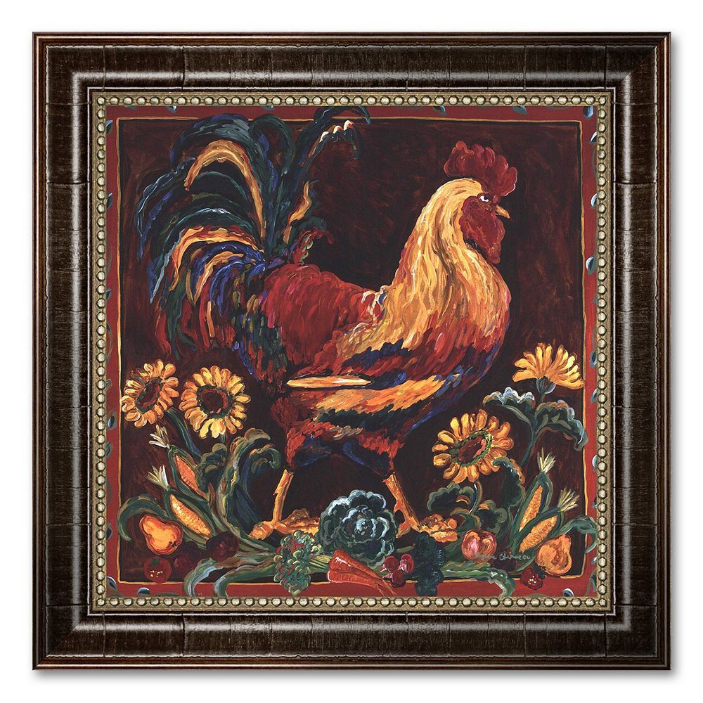 """""""Rooster Rustic"""" Framed Canvas Art by Suzanne Etienne"""