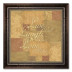 'Live Well, Laugh Often, Love Much' Framed Art Print by Stephanie Marrott