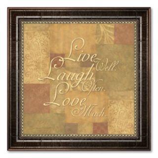 Live Well, Laugh Often, Love Much Framed Art Print by Stephanie Marrott