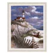 """Lighthouse with Deserted Canoe"" Framed Art Print by T.C. Chiu"