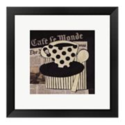 Cafe Le Monde Framed Art Print by Avery Tillmon