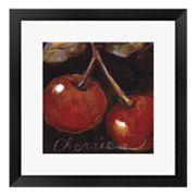 Ripe Cherries Framed Art Print by Nicole Etienne