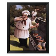 Barbecue Chef Hot Sauce Framed Art Print by T.C. Chiu