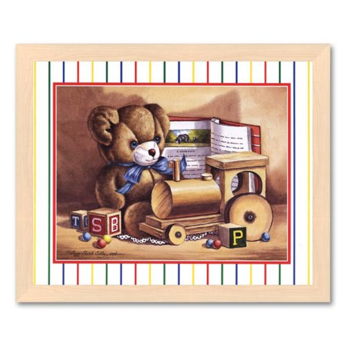 Child Toys Framed Art Print by Peggy Thatch Sibley