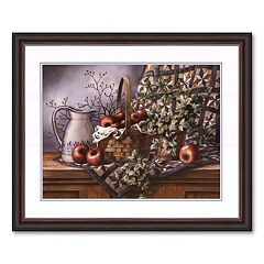 'Quilt, Pitcher and Apples' Framed Art Print by T.C. Chiu