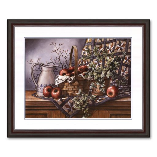 Quilt, Pitcher and Apples Framed Art Print by T.C. Chiu