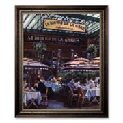 Le Bistro de la Gare Framed Canvas Art by Lowndes
