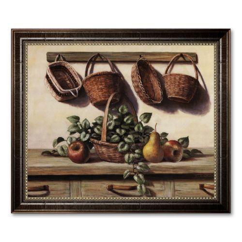 Hanging Baskets Framed Canvas Art by T.C. Chiu