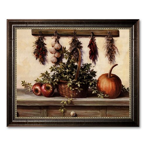"""""""Hanging Dried Herbs"""" Framed Canvas Art by T.C. Chiu"""
