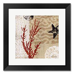 'Coral Impressions I' Framed Art Print by Tandi Venter