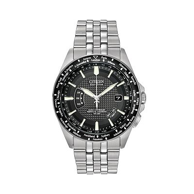 Citizen World Perpetual A-T Eco-Drive Stainless Steel Watch - Men