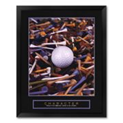 Character - Golf Tees Framed Art Print by Bruce Curtis