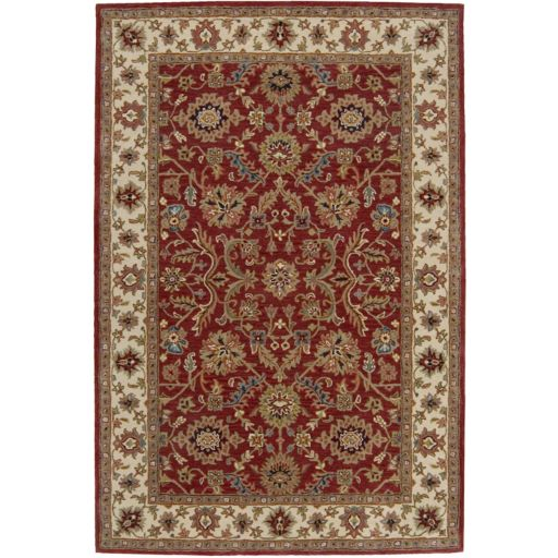 India House Red Floral Rug - 3'6'' x 5'6''