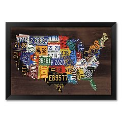 'Usa Map II' Framed Art Print by Aaron Foster