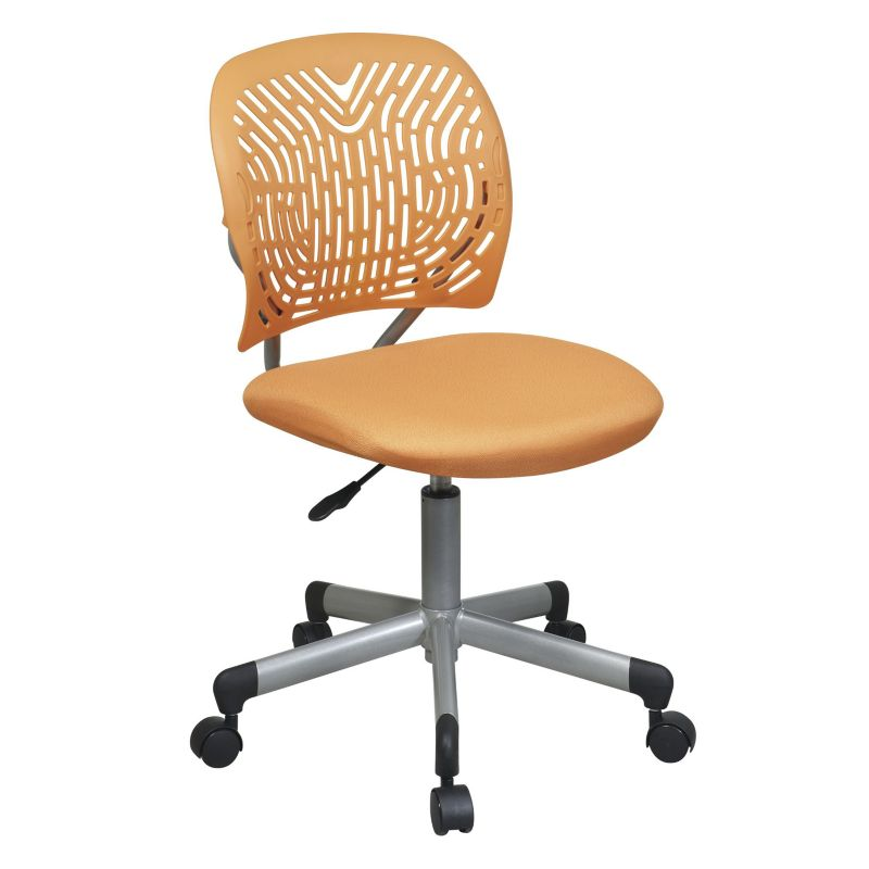 OSP Designs Deluxe Designer Task Chair, Orange