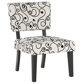 Linon Taylor Swirl Accent Chair