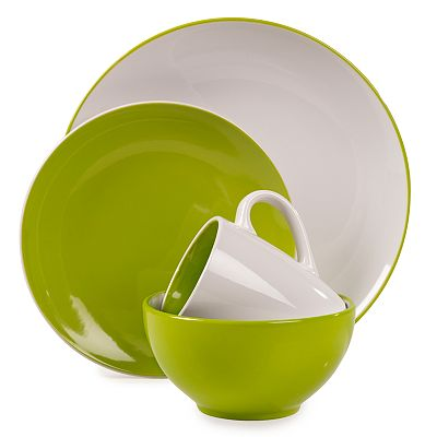 Tabletops Gallery Green Milano 16-pc. Dinnerware Set